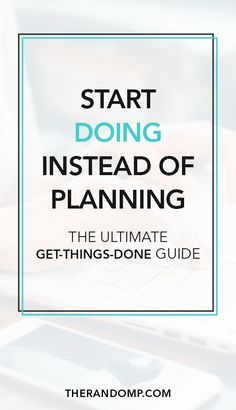 The essence of getting things done is simple - you have to do them. This is the ultimate productivity guide for you on how to start doing instead of planning and how to achieve your goals instead of procrastinating. #productivity #timemanagement
