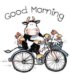 Good Morning Biker | Good Morning Cow
