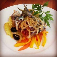 Sardines Escabeche with Parma Ham (Prosciutto)