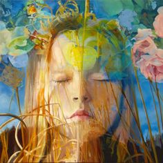 """Seeing the Light,"" original portrait painting by artist Maxine Davidowitz (USA) available at Saatchi Art #SaatchiArt"