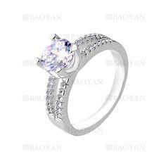 anillo con cristal de moda de plateado para mujer-BREGG76025