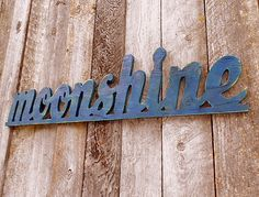 Wooden MOONSHINE Sign  Plywood by AmericanaSigns on Etsy, $35.00