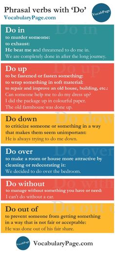 "Phrasal Verbs with ""Do"""