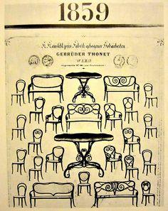 El catálogo de los modelos Thonet de 1859