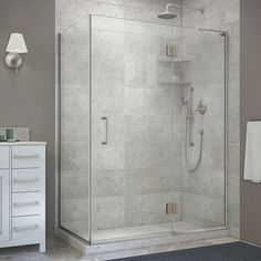DreamLine Unidoor-X H x to W Frameless Hinged Chrome Shower Door at Lowe's. The DreamLine Unidoor-X is a frameless shower door, tub door or enclosure that features a luxurious modern design, complementing the architectural Steam Shower Enclosure, Frameless Shower Enclosures, Frameless Shower Doors, Shower Stalls, Corner Shower Enclosures, Home Depot, Decoration, Brushed Nickel, Nickel Finish