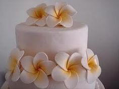 tropical flower cake - tutorial