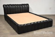 Jay Spectre Black Leather Queen Bed | eBay