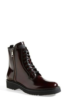 Prada Lace-Up Short Boot (Women) available at #Nordstrom