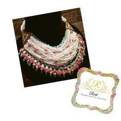 Royal Jewelry, Gems Jewelry, Pearl Jewelry, Beaded Jewelry, Jewelery, Beaded Necklace, Bridal Jewellery, Gold Jewellery, Trendy Jewelry