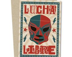 Items similar to Purple Power Lucha Libre Mask. Fun Photobooth Prop on Etsy