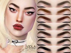 Pralinesims' Viola Eyebrows N127 Sims 4 Mods Clothes, Sims Mods, Sims 4 Cas, Sims Cc, Sims 4 Cc Eyes, The Sims 4 Skin, The Sims 4 Cabelos, Pelo Sims, Sims 4 Cc Makeup
