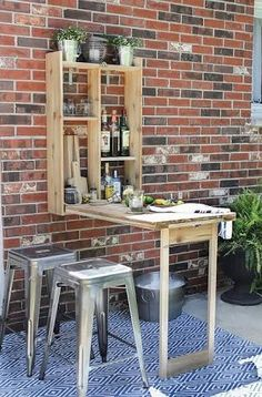 Looking for a DIY outdoor bar idea? This guide is designed to help you find DIY outdoor bars that you would like to have in your backyard and help you make them your own. Here are of DIY Outdoor Bar Ideas To Make Your Patio Sing. Diy Outdoor Bar, Outdoor Living, Outdoor Decor, Outdoor Storage, Outdoor Ideas, Patio Storage, Outdoor Fabric, Outdoor Seating, Outdoor Tables