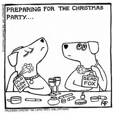 Christmas Party Preparations - Off The Leash by Rupert
