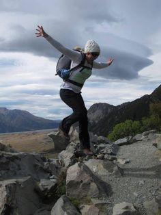 Climbing to Mueller Hut, Mount Cook National Park, NZ by Hayley Dargue Jones