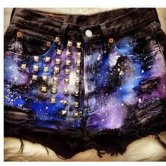Galaxy Shorts  Custom by CorshasCouture on Etsy, $45.00 -I wonder if I could make these..-