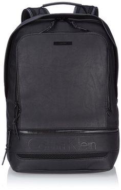 Calvin Klein Jeans ASHER BACKPACK, Men Hobos and Shoulder Bags, Black (BLACK 990), 33x44x18 cm (B x H x T)