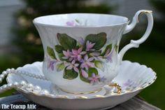 Royal Albert Teacup and Saucer MAYFLOWER, ca 1960-1970