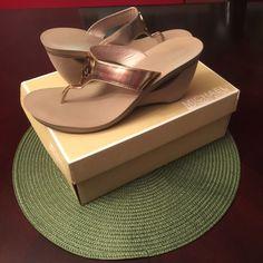 Authentic Michael Kor'S Wedge Heel Sandals