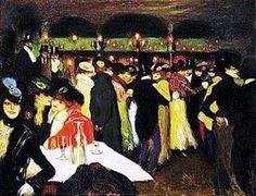 """Pablo Picasso – """"Le Moulin de la Galette"""" - Paris, 1900 – read the story on http://designmuitomais.blogspot.com.br/2014/12/pablo-picasso-le-moulin-de-la-galette.html"""