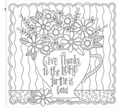 Colorful Blessings: A Coloring Book for Grown-Up Girls from The Coloring Cafe Coloring Pages For Grown Ups, Free Adult Coloring Pages, Colouring Pages, Coloring Sheets, Coloring Books, Fall Coloring, Bible Verse Coloring Page, Bible Verse Art, Coloring Pages Inspirational