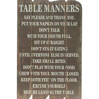 Table Manners Wall Plaque @ Urban Barn LOVE!!