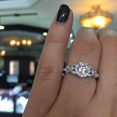 Gabriel & Co. ER6951W44JJ 14k White Gold Diamond Halo Engagement Ring Setting