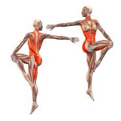 Dancing Shiva pose, right foot on left knee - Natarajasana left - Yoga Poses | YOGA.com