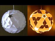 Cách làm một chiếc lồng đèn trái bóng tròn trang trí quán cafe, văn phòng hay trang trí nội thất - YouTube