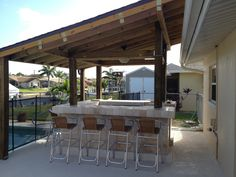 Our new backyard/poolside bar-DIY design and construction