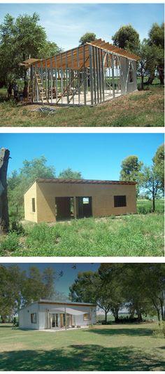 vivienda en el campo, estructura steel frame, revestimiento chapa galvanizada vertical, estudio Meier & Lanz Arquitectos.