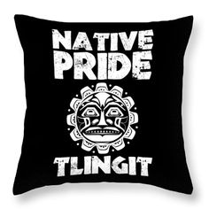 The Tlingit Throw Pillow featuring the digital art Native Pride Tlingit 2 by Otis Porritt