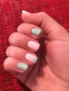 Essie mint and pink
