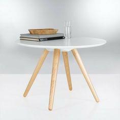 Table basse ronde bicolore PIN'S  Taupe- Vue 1 - 3 suisses  http://www.3suisses.fr/maison/meubles/tables/table-basse-ronde-bicolore-pins-R10080752