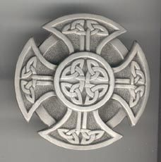 Celtic Shield. Upper left and right chest. The warrior's knot. Protection against evil, both internal and external