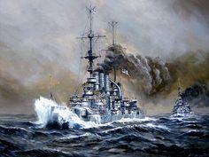 Acorazado Deutschland 1906 en la Batalla de Jutlandia 1916