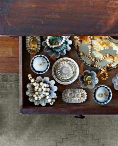 Turn Baking Tins into Jewelry Storage  - CountryLiving.com