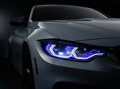Photographs of the 2015 BMW Concept Iconic Lights. An image gallery of the 2015 BMW Concept Iconic Lights. 2015 Bmw M4, Audi, Car Headlight Bulbs, Xenon Headlights, Performance Cars, Bmw Cars, Car Lights, Car Detailing, My Ride