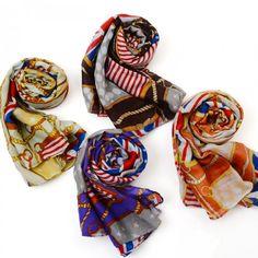 purple plus size flag pattern fashion scarf fs0236