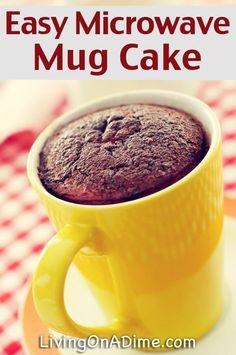 Homemade Warm Delights – Easy Microwave Mug Cake Recipe – – Living on a Dime To Grow Rich Mug Cake Cake Mix, Cake In A Cup, Easy Mug Cake, Cake Mixes, Cake Mix Recipes, Cake Batter, Cupcake Cakes, Dessert Recipes, Cupcakes