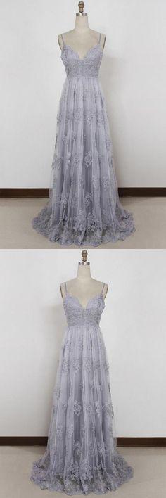 Prom Dresses 2019, Backless Prom Dresses, Prom Dresses A-Line, Long Prom Dresses #PromDresses2019 #BacklessPromDresses #PromDressesALine #LongPromDresses