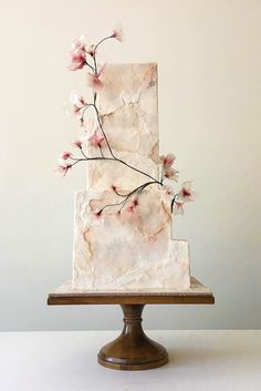 24 Trendy Marble Wedding Cakes ❤ See more: http://www.weddingforward.com/marble-wedding-cakes/ #weddings #cakes