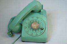 sea foam rotary phone.