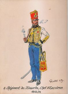 French; 5th Hussars, Chef d'Escadron, 1813-14