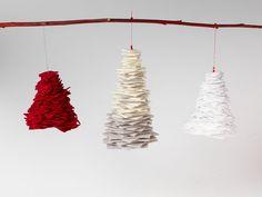 Een kerstboom, maar dan anders. Voor in je.. kerstboom! Juist! Deze vilten hanger geeft een bijzondere twist aan je kersthangers.  #DaWandaDIY #DIY #Homemade