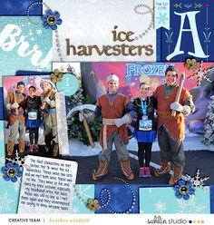 Layout by Heather. Ice Harvesters at 2015 Princess Frozen at WDW. Credits: Project Mouse (Ice): Bundle and alpha from Around the World, both by Britt-ish Designs & Sahlin Studio. Fill 'Er Up Templates 4 by Britt-ish Designs. Scrapbook Designs, Scrapbooking Layouts, Digital Scrapbooking, Disney Mouse, Run Disney, Disney Vacations, Disney Trips, Disney Scrapbook Pages, Project Life