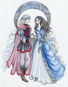 """The Dragon Prince and the Wolf Maid by La-Chapeliere-Folle.deviantart.com on @deviantART #Rhaegar and #Lyanna """"Ned remembered the moment when all the smiles died, when Prince Rhaegar Targaryen urged his horse past his own wife, the Dornish princess Elia Martell, to lay the queen of beauty's laurel in Lyanna's lap. He could see it still: a crown of winter roses, as blue as frost."""""""