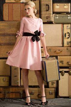 Nutcracker Fit and Flare Dress Light Pink