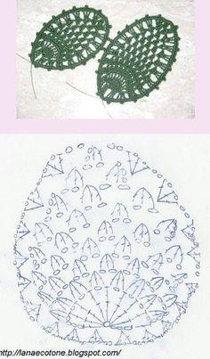 Crochet Flowers Easy Page 2 of Pretty Flower Crochet Puff Flower, Crochet Cactus, Crochet Leaves, Pineapple Crochet, Form Crochet, Crochet Diagram, Crochet Chart, Crochet Flowers, Easter Crochet Patterns