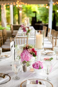 Gorgeous peony centerpieces for a vintage Nashville wedding! | The Collection