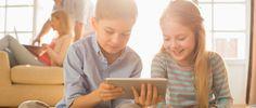 Kids watching videos on Voilaboard